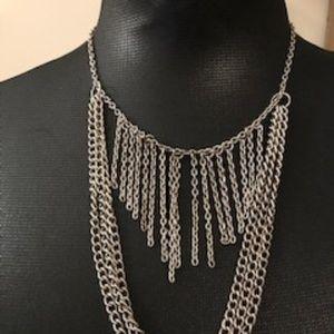 Chain Link Fringe Necklace